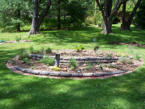 Herbs, Newly planted garden